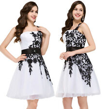 2016 Glam White&Black Formal Prom Dresses Graduation Party Short  Evening Dress