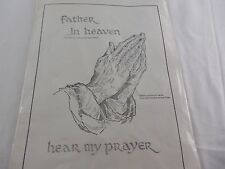 "National Needlecraft Corp. ""Father In Heaven Hear My Prayer"" Embroidery Kit"