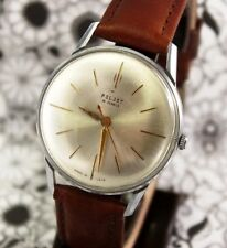 Oversized soviet vintage men's dress watch Poljot 16 jewels CCCP from 1960's