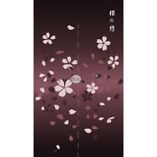 Japanese Noren Tapestry Door Curtain Cherry Blossom 100% Polyester 82cm x 140cm
