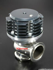 44MM Wastegate 7 PSI Turbo Stainless Steel Valve / Body Dump Anodized BLACK