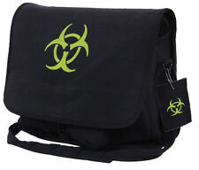 bio hazard messenger bag shoulder strap black canvas rothco 99139