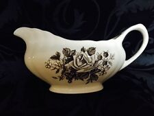 J & G Meakin UK Gainsborough Brown Vintage Gravy Boat Pitcher EUC!