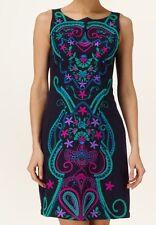 BNWT Phase Eight /8 Sheridan Embellished Shift Dress Black/ Multi Size 10 £110!!