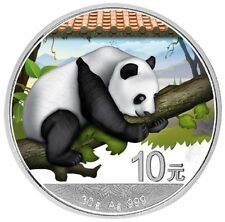 2016 ~ 30~GRAM ~ PURE SILVER ~ 10Y ~ CHINA PANDA PROOF ~ MINT COLORIZED ~ $48.88