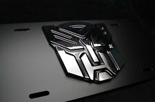 3D TRANSFORMERS LICENSE PLATE FOR CARS WITH 3D ABS AUTOBOT EMBLEM