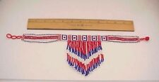 BEAUTIFUL JULY 4th PATRIOTIC RED WHITE & BLUE MADE IN INDIA BEADED NECKLACE!