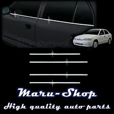 Chrome Door Window Sill Belt Line Cover Tirm for 95~99 Hyundai Accent 4DR/5DR