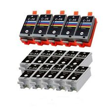 15 ink Comp cartridge CLI36 PGI35 for Canon Pixma ip100 mini260 mini320 Printer