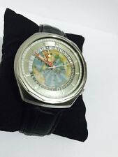 Rare 1970s Vintage Edox Geoscope Automatic World Timer Swiss Made Watch
