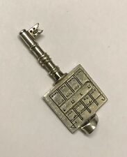 Rare Antique/vintage Old Solid Silver Jewish Key For Box/Padlock/necklace Charm