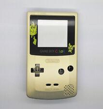 Gold color Pikachu Full Housing Shell for Nintendo Game boy Color GBC OEM Repair