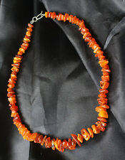 Genuine Natural Baltic Amber Bead Necklace Cognac Colour Vintage Antique