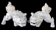 """Vintage A Pair of Chinese White Porcelain Foo Dog 8""""x 6"""""""