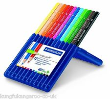 12 x STAEDTLER ERGO SOFT COLOURING PENCILS TRIANGULAR PREMIUM ARTIST SCHOOL SET