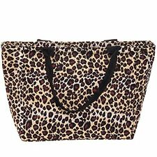 SilverHooks Womens Leopard Insulated Lunch Tote Bag