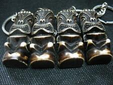 12 pcs Key Ring Simulation Bone Carving Tiki Man Totem Keychain Gift