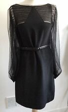 PHILIP LIM 3.1 Designer Black Silk Evening Dress S.38 Or UK 10