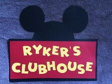 Personalized Mickey Mouse Clubhouse Door Sign. Great for birthday Parties