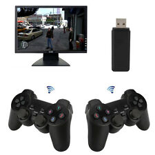 2x2.4G USB Wireless Vibration Gamepad Controller Joystick For PC Laptop