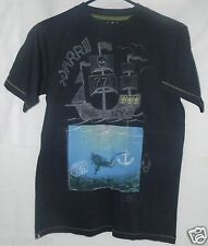 77Kids by AE T-Shirt Gray Size 12 Large American Eagle Cotton Pirate Ship Boat