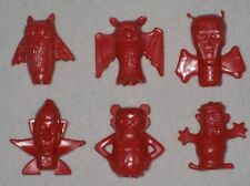 MONSTER CEREAL PENCIL TOPPERS - LOT of 6 RED - VINTAGE CEREAL PREMIUM