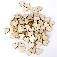 50X 40mm Wooden Laser Cut Love Heart Shape Craft DIY Scrapbooking Embellishments