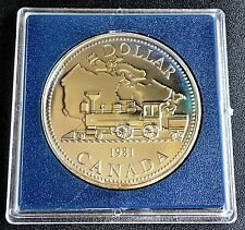 1981 CANADA SILVER PROOF DOLLAR - TRANS CANADA HIGHWAY CENTENNIAL TRAIN