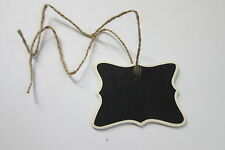 10 Mini Chalkboard Hanging Tag Wedding, Gifts, Party Favors, Storage, Black/Wood