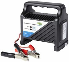 12 Volt 4 Amp Car Van Boat Bike Motorhome LED Compact & Robust Battery Charger