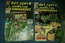 Sgt fury and his howling commandos 58 60 silver age lot run set war movie marvel