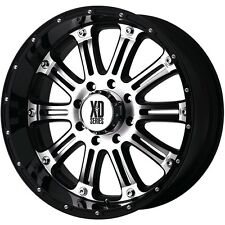 18 Inch Black Silver Wheels Rims Ford Truck F 250 F 350 8x6.5 Lug XD Series Hoss