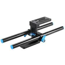 15MM Rod Support Rail System Baseplate Mount for Follow Focus DSLR Mattebox P4P1