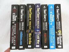 TOM CLANCY Lot of 7 POWER PLAYS Series Paperback Novels