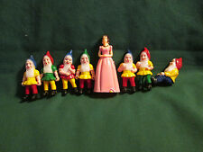 Vintage 1960's Snow White & Seven Dwarfs Cake Topper Set NO TOOLS