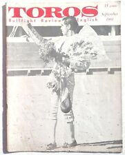 Vintage September 1961 Toros (Matador) Bullfighting Review In English Magazine