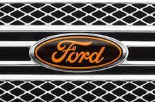Vinyl Decal Sticker Badge Oval Logo Overlay For Ford F-150 2007-2014 BLACK ORNG