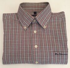 Ben Sherman Vintage Gingham Labelled Shirt Size 2 M Great Condition