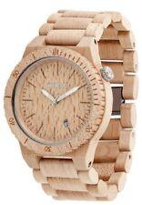 WeWood Uhr Beta Beige - Armbanduhr aus Ahorn Holz Herrenuhr WW16002 Hypoallergen
