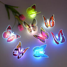 Lovely 7 Color Changing Colorful Romantic LED Butterfly Bedside Night Light Lamp
