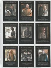 GAME OF THRONES SEASON 5 QUOTABLE 9 CARD SET Q41 TO Q49