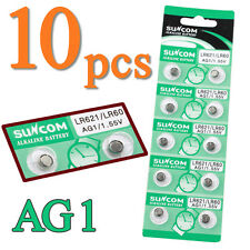10pcs LR621 LR60 364A 1.55V Low Carbon Button Coin Cell Battery for Watch Remote