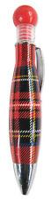 Scottish Gifts - Royal Stewart Tartan Design Bubble Chunky Souvenir Pen