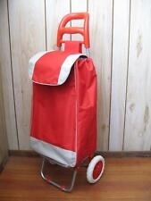 2 in 1 RED FOLDING SHOPPING LAUNDRY TROLLEY CART HAND TRUCK