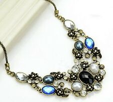 Womens luxury Fashion Jewelry Chic Glass Crystal Statement Choker necklace