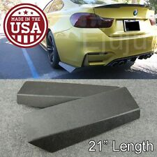 "21""  Rear Bumper Lip Downforce Apron Splitter Diffuser Valence Spats For  BMW"