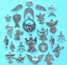 Angels Deluxe Charm Collection 25 Tibetan Silver Tone Charms FREE Shipping E26