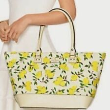 Kate Spade Bag WKRU3240 Wellesley Lemon Fabric Medium Harmony Agsbeagle