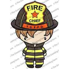 RESCUE IAN-The Greeting Farm Cling Mount Stamp-Stamping Craft-Fireman-RETIRED
