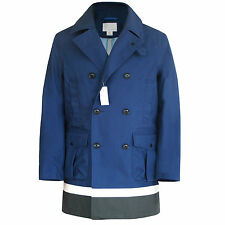 NANAMICA JAPAN double breasted Gore-Tex peacoat colorblock jacket coat M NEW